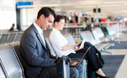 Business Travellers at the airport