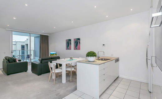 Adelaide Hindmarsh 2 bed corporate apartment open plan