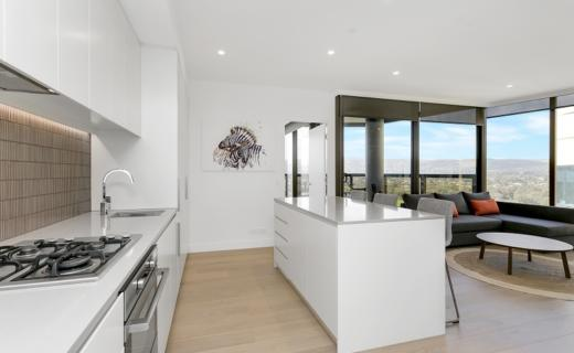 Adelaide King William 2 bed 2 bath corporate apartment dining