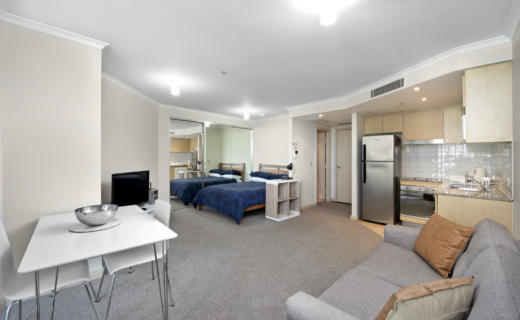 Chatswood Help 1 bed studio corporate apartment dining