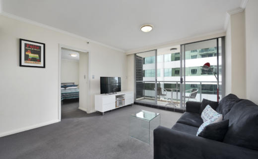 Chatswood Pacific 1 bed corporate apartment lounge