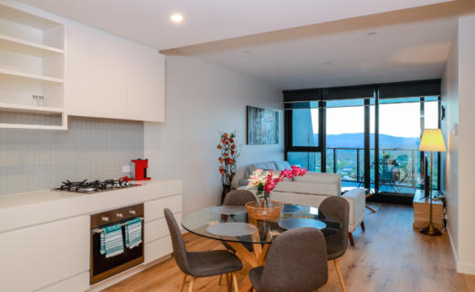 Glen Waverley O'Sullivan 2 bed corporate apartment kitchen