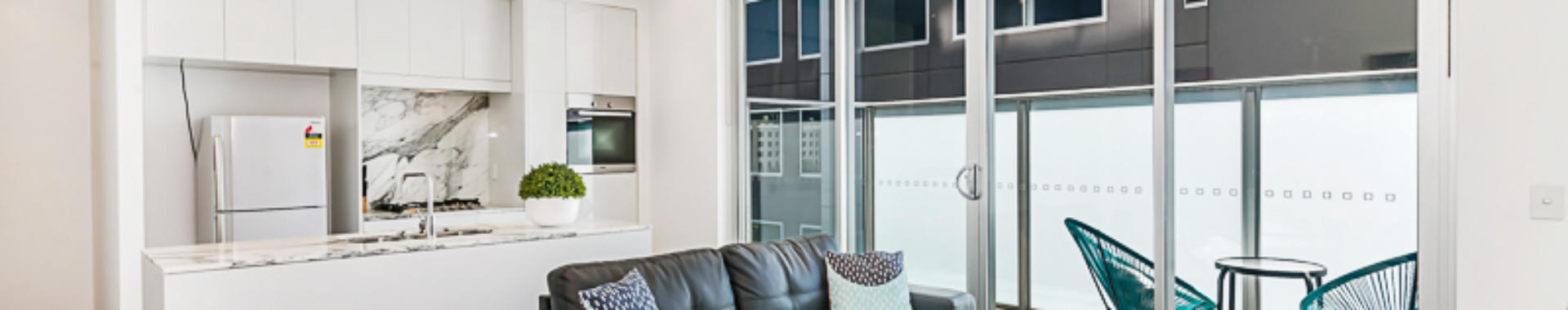 Adelaide Hindmarsh 1 bed corporate apartment lounge