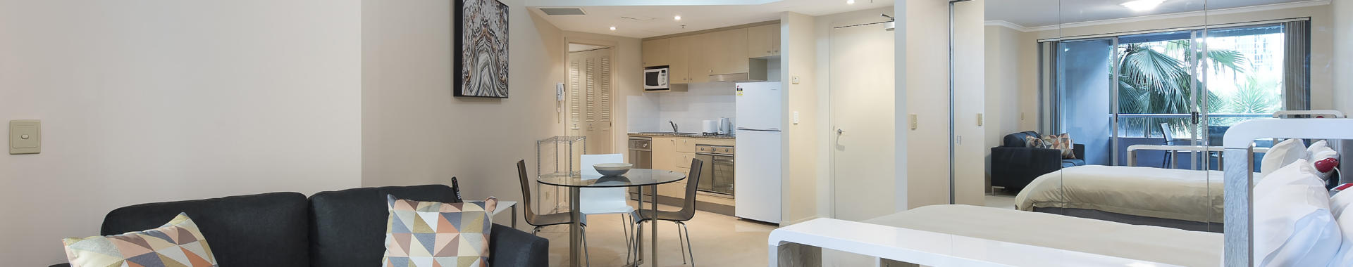 Chatswood Help 1 bed studio corporate apartment lounge