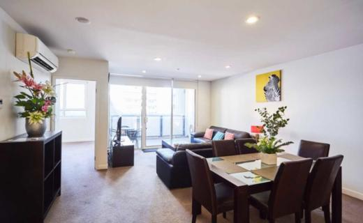 Docklands Collins 2 bed corporate apartment lounge