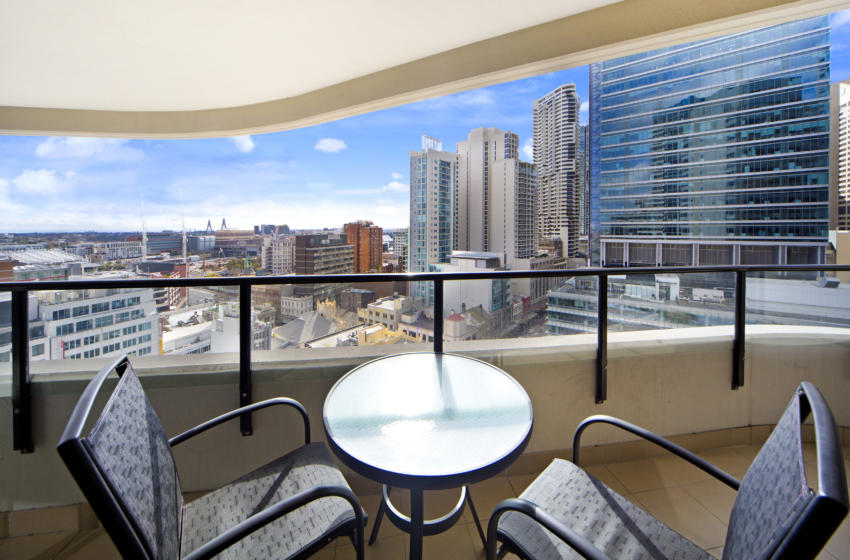 Haymarket George 1 bed corporate apartment balcony