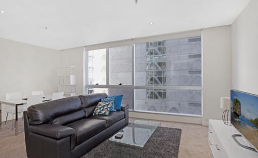 Melbourne JaneBell 1 bed studio corporate apartment lounge