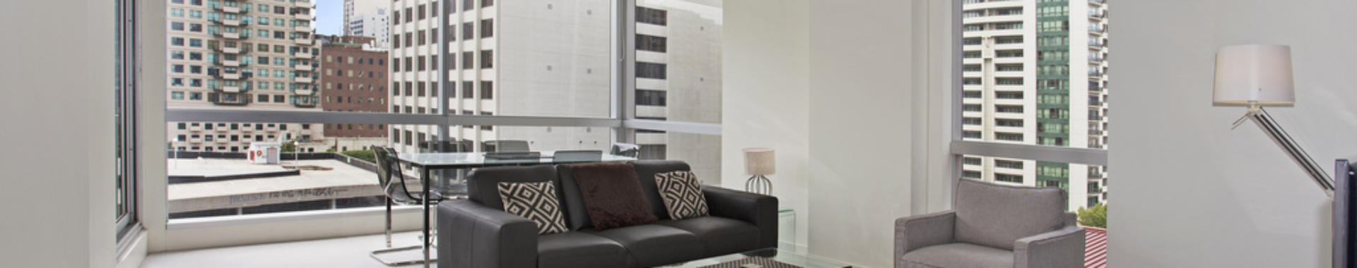 Melbourne JaneBell 2 bed 1 bath corporate apartment lounge