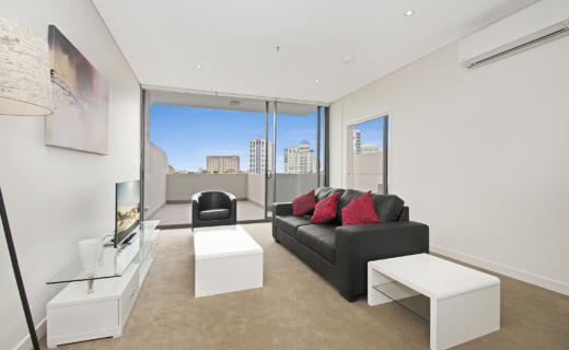 NorthSydney Montrose 1 bed corporate apartment lounge