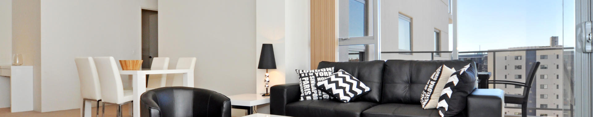 Perth AdelaideTerrace 1 bed corporate apartment lounge