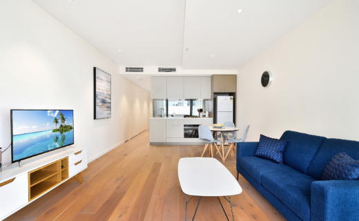 StLeonards Albany 1 bed corporate apartment lounge