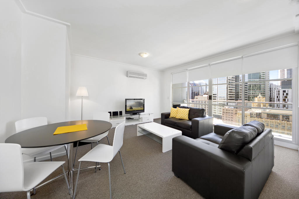 Sydney King Kent 1 bed corporate apartment lounge, Long stay Apartments Sydney