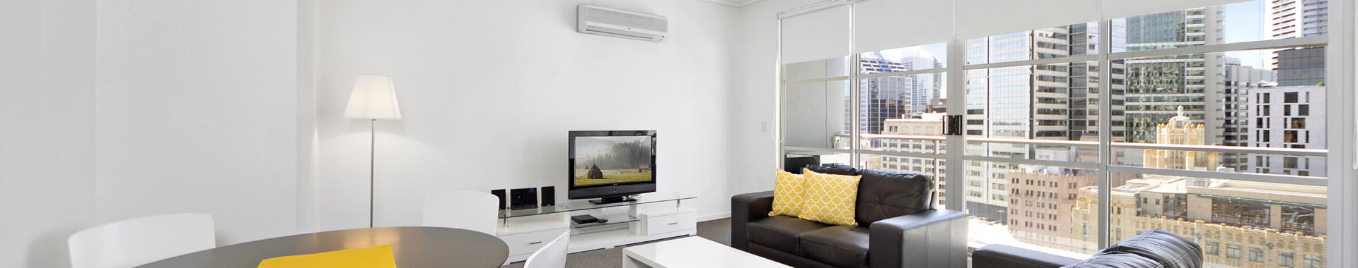 Sydney King Kent 1 bed corporate apartment lounge