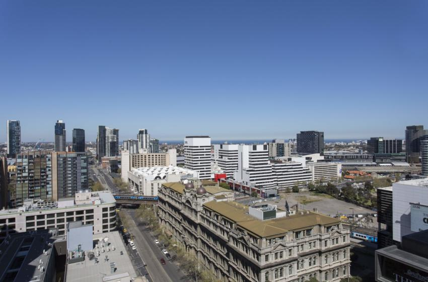 Melbourne Collins 1 bed corporate apartment view