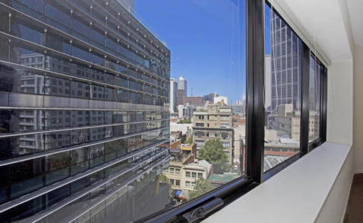 Melbourne Swanson 1 bed corporate apartment view