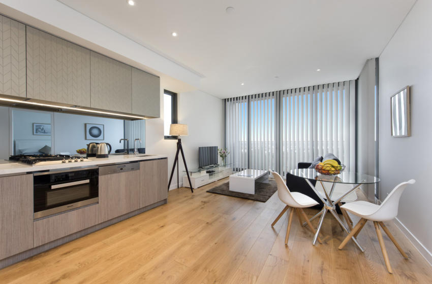 NorthSydney Angelo 1 bed corporate apartment kitchen dining