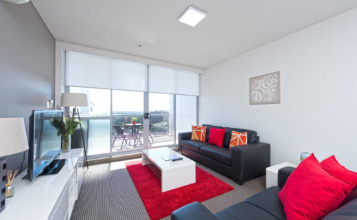 NorthSydney Miller 1 bed corporate apartment lounge