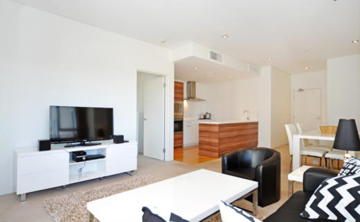 Perth AdelaideTerrace 2 bed corporate apartment lounge