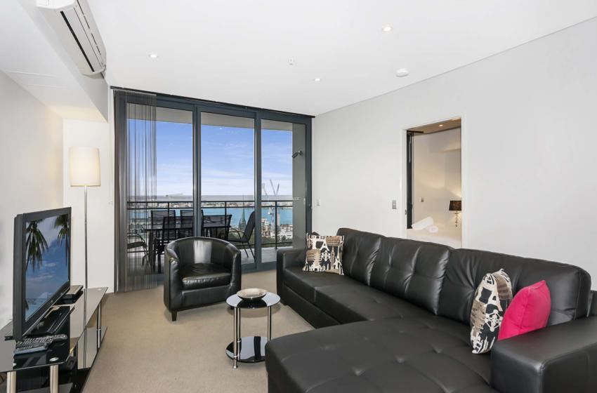 Perth Murray 2 bed corporate apartment lounge