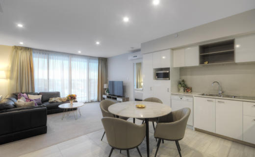 Perth MurrayWest 2 bed corporate apartment dining