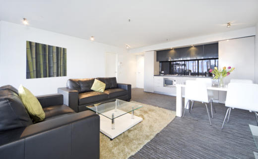 SurryHills Bourke 2 bed corporate apartment lounge