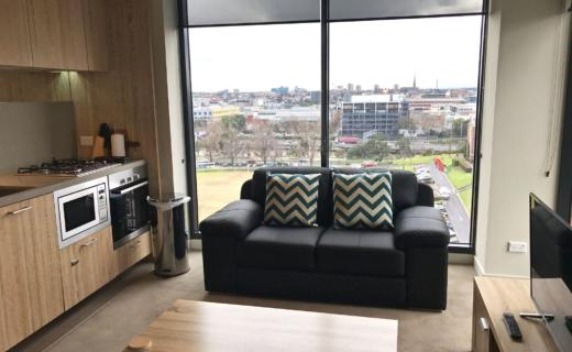 Sydney Kent 2 bed corporate apartment lounge