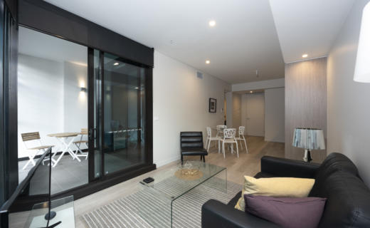 Sydney York George 1 bed corporate apartment lounge