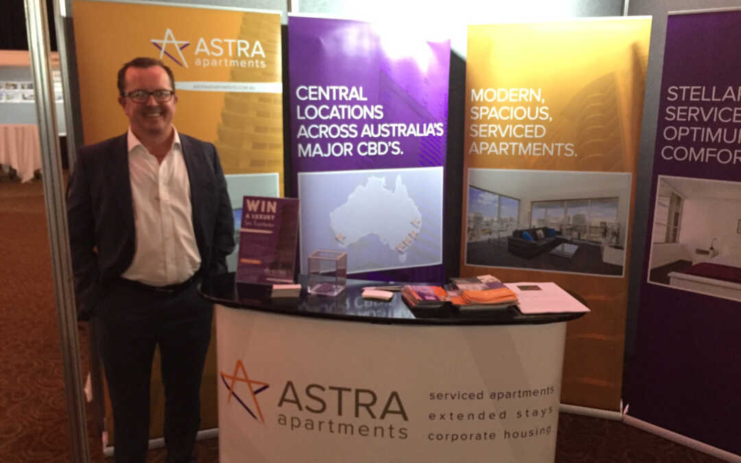 We're in Brisbane today exhibiting at the qantas corporate travel show