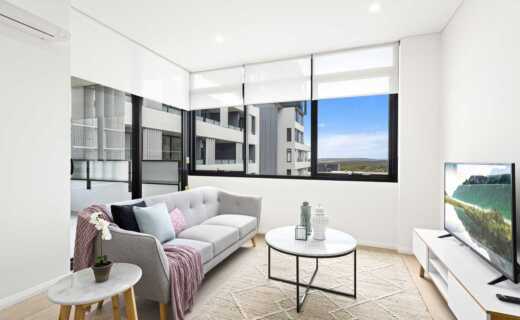 Sutherland Village Place 1 bed study corporate apartment lounge