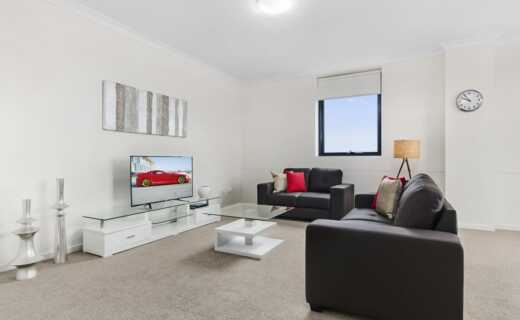 Liverpool 1 bed corporate apartment lounge