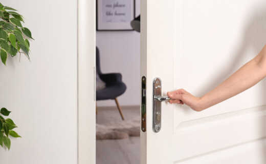 Opening the door of a corporate apartment