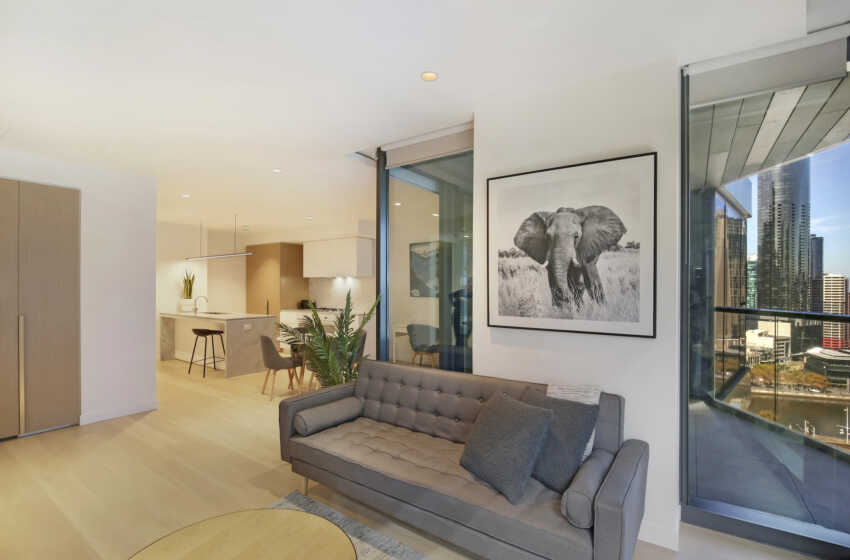 Melbourne Collins St 1 Bed Corporate Apartment open plan