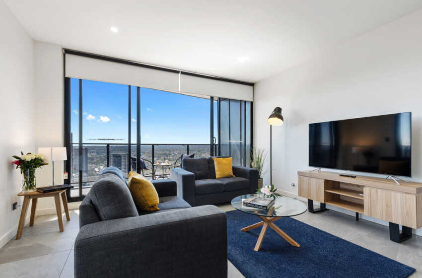 Astra Apartments Parramatta Hassall 2 bed corporate apartment light-filled