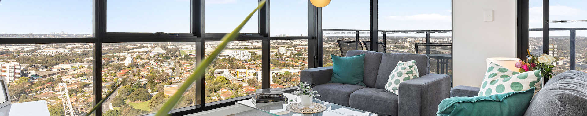 Astra Apartments Parramatta Hassall 3 bed corporate lounge